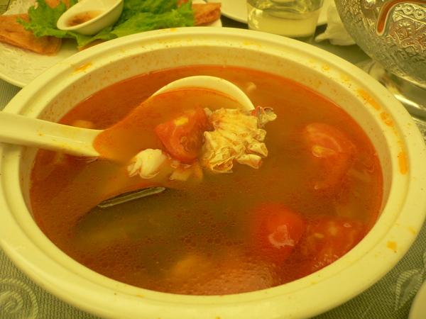 酸辣海蝦湯