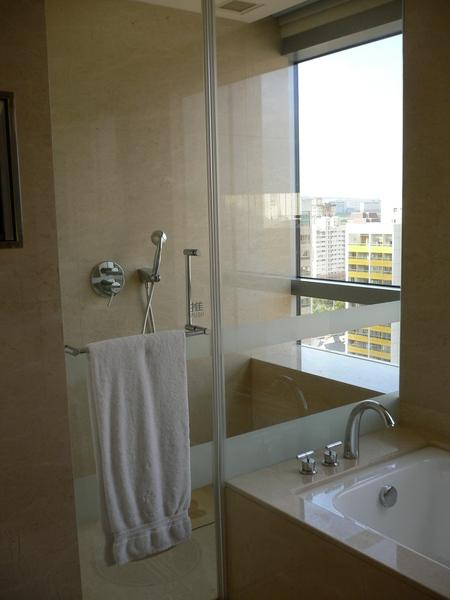 淋浴間也有view喔