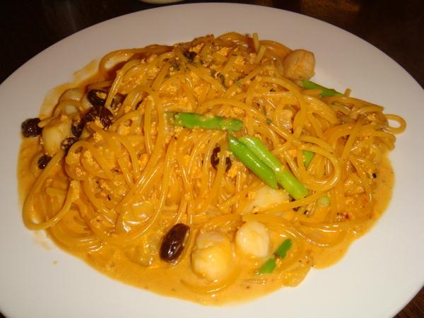 干貝海膽義大利麵