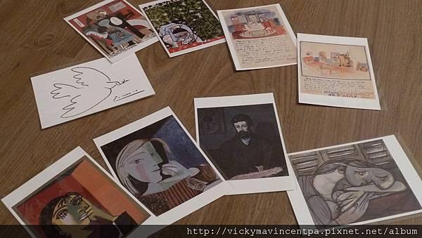 紀念品 一堆明信片