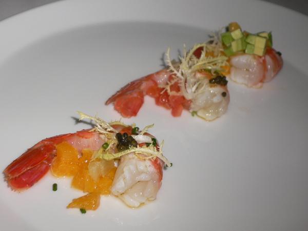 吃起來像是龍蝦的明蝦~上頭還有魚子醬提味