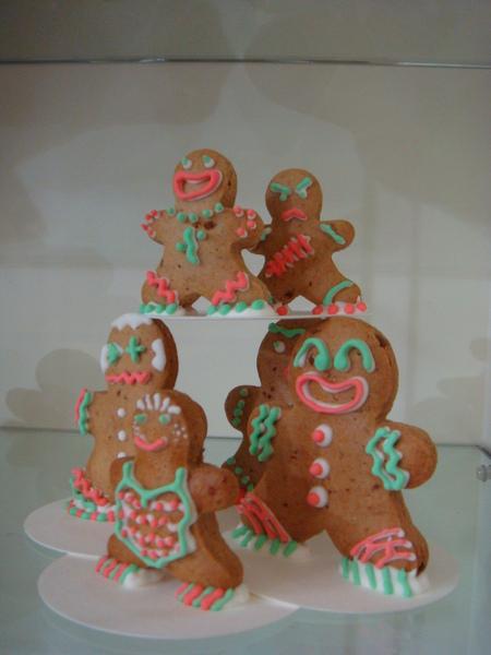 可愛的薑餅人家族