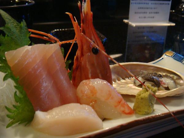 旗魚 甜蝦 干貝 鮑魚