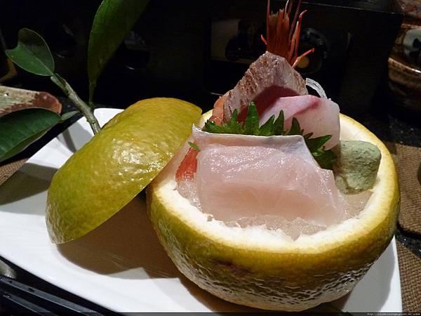 牡丹蝦季節生魚片