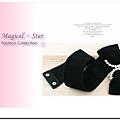 ♥ Magical Star ♥ MSB69979 韓版時尚淑女X型水晶蝴蝶結腰封(黑)