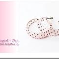 MSR70310 韓版熱銷C型時尚耳環(粉色小黑點)