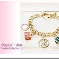 ♥ Magical Star ♥ MSH69809 韓版流行百搭夏季繽紛的金錢四葉草手鏈