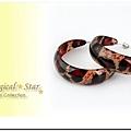 ♥ Magical Star ♥ MSR68786 韓版熱銷C型深紅彩圈耳環