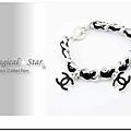 ♥ Magical Star ♥ MSH71489 韓版流行時尚簡約黑色皮革X手鍊