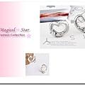 ♥ Magical Star ♥ MSR39034 韓國明星氣質款可愛桃心水鑽耳針