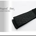 ♥ Magical Star ♥ MSB67388 韓版簡潔帥氣女孩扣扣黑色編織彈力腰帶