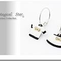♥ Magical Star ♥ MSR68776 韓版不對稱可愛衣裙造型耳環