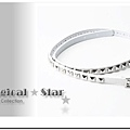 ♥ Magical Star ♥ MSH70380 韓版龐克女孩個性正方形鉚釘手鏈(白)