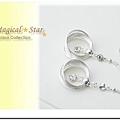 MSR70654 韓版都會時尚水鑽吊飾多層銀圈耳環