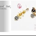 ♥ Magical Star ♥ MSR68355 韓版甜美不對稱蝴蝶結花露耳環