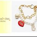 ♥ Magical Star ♥ MSH68162 韓版奢華烈焰紅唇香奈兒珍珠手鍊