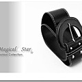♥ Magical Star ♥ MSB71107 韓版!非主流流行時尚百搭女式圓扣黑色腰間皮帶