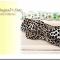 ♥ Magical Star ♥ MSB69489 日韓風靡時尚蝴蝶結豹紋雪紡腰帶