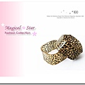 ♥ Magical Star ♥ MSH70314 韓國熱銷! 龐克女孩經典豹紋方形手鐲