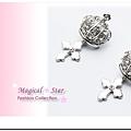 ♥ Magical Star ♥ MSR67429 韓版流行銀皇冠十字架耳釘