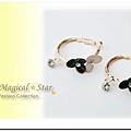 MSR70986 韓版流行氣質款三葉草圈環單鑽耳環