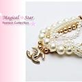 ♥ Magical Star ♥ MSH69104 韓版奢華多層珍珠香奈兒水鑽手鏈