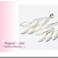 MSR70430 波西米亞風情華麗款冰花水鑽水滴耳環 (白)
