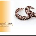♥ Magical Star ♥ MSR68787 韓版熱銷C型豹紋彩圈耳環