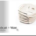 ♥ Magical Star ♥ MSH51954 韓版明星個性多線皮繩手鏈(白)