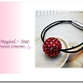 ♥ Magical Star ♥ MSO48844 韓版熱銷! 俏麗女孩流行紅色圓球滿鑽髮圈