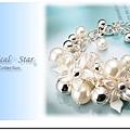 ♥ Magical Star ♥ MSH69319 韓版氣質女孩百葉花語珍珠手鍊