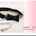 ♥ Magical Star ♥ MSB69947 韓版流行淑女纖細黑色皮繩蝴蝶結腰鍊