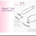 ♥ Magical Star ♥ MSR67964 韓版俏麗女孩可愛衣裙水鑽耳環(白)