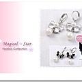 ♥ Magical Star ♥ MSR32627 韓國明星熱賣氣質甜美款! 蝴蝶結珍珠耳墜(白)