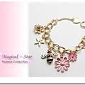 ♥ Magical Star ♥ MSH67931 韓版夏季甜美女孩花朵蜜蜂手鍊
