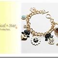 ♥ Magical Star ♥ MSH67932 韓版春夏甜美瓢蟲可愛花朵愛心蝴蝶結水鑽手鏈