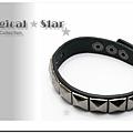 ♥ Magical Star ♥ MSH66389 韓版龐克女孩個性皮繩四方手鏈