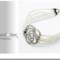 MSH67848 韓版春夏氣質女孩珍珠玫瑰水鑽手鍊