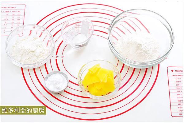 抹茶栗子酥-02油皮材料.JPG