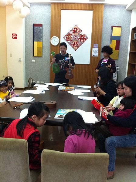 101年1月8日 日光行宮社區ukulele體驗活動
