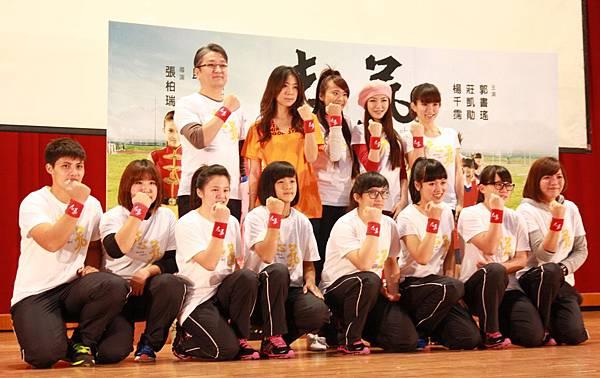 【志氣】今日於景美女中舉行校園首映,與全校兩千名師生一起看電影