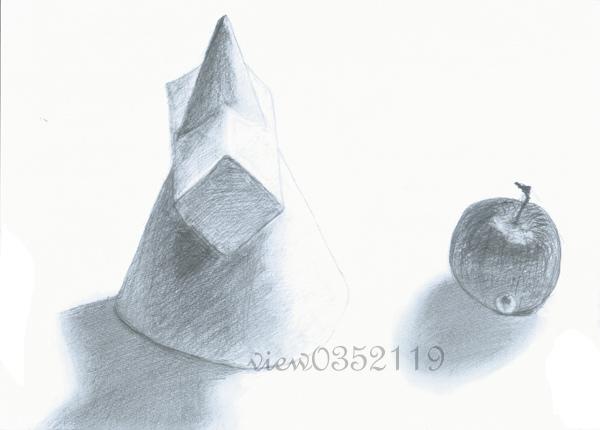 04石膏 錐體和蘋果.jpg