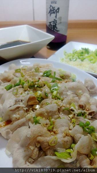 蒜泥醬淋白肉片IMAG0366