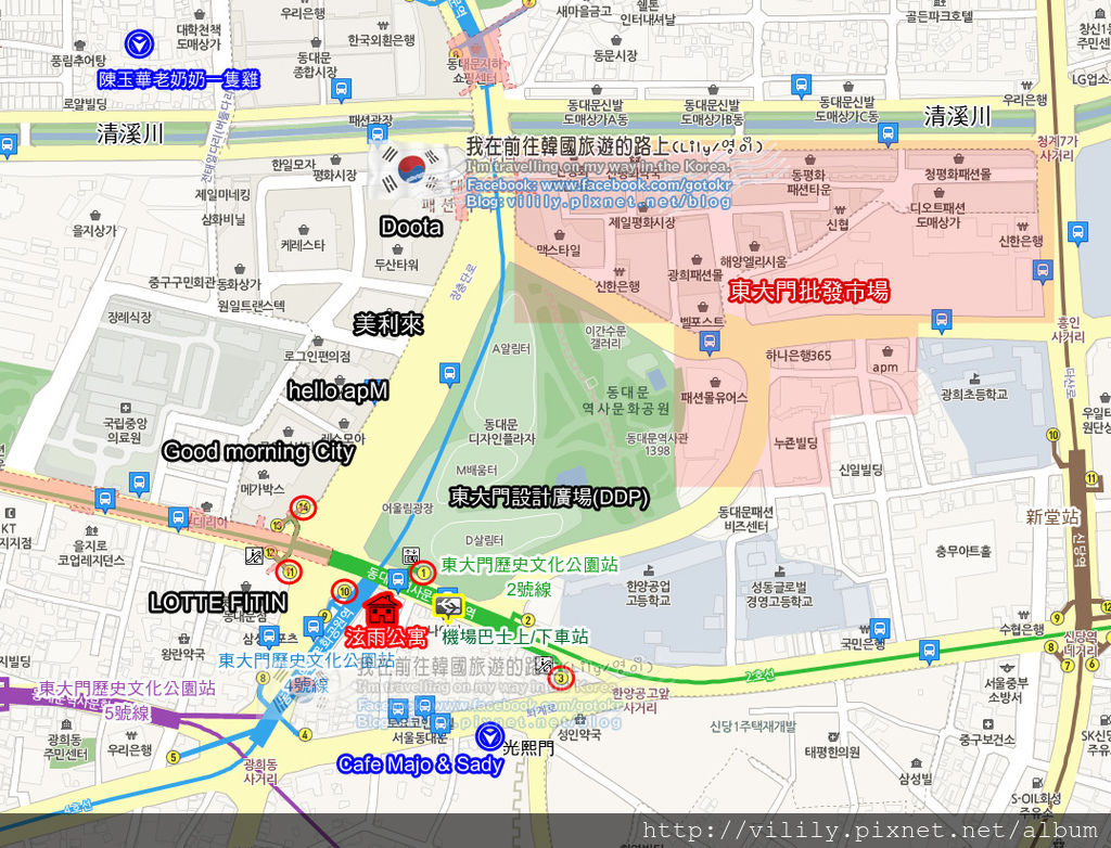 泫雨公寓map