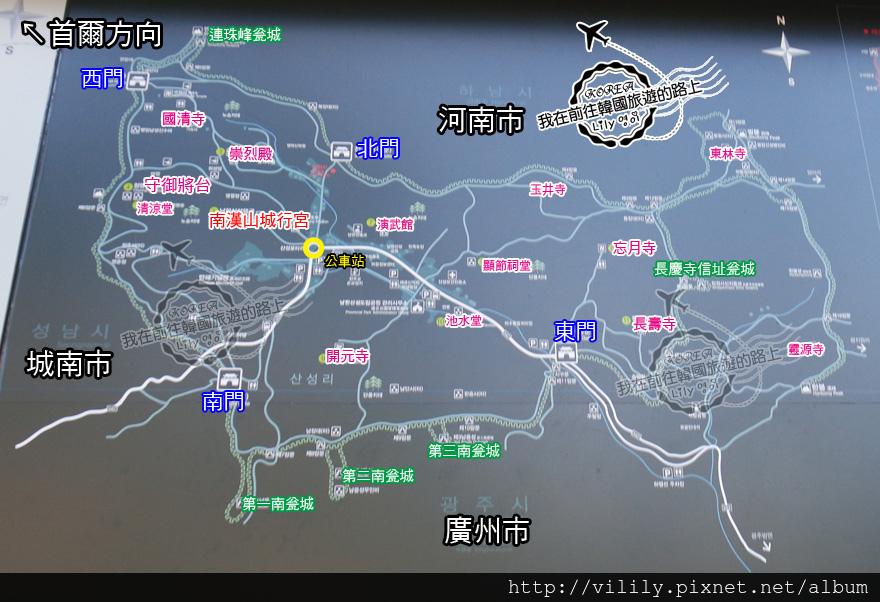 南漢山城map