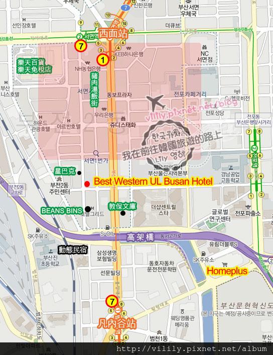 最佳西方飯店map