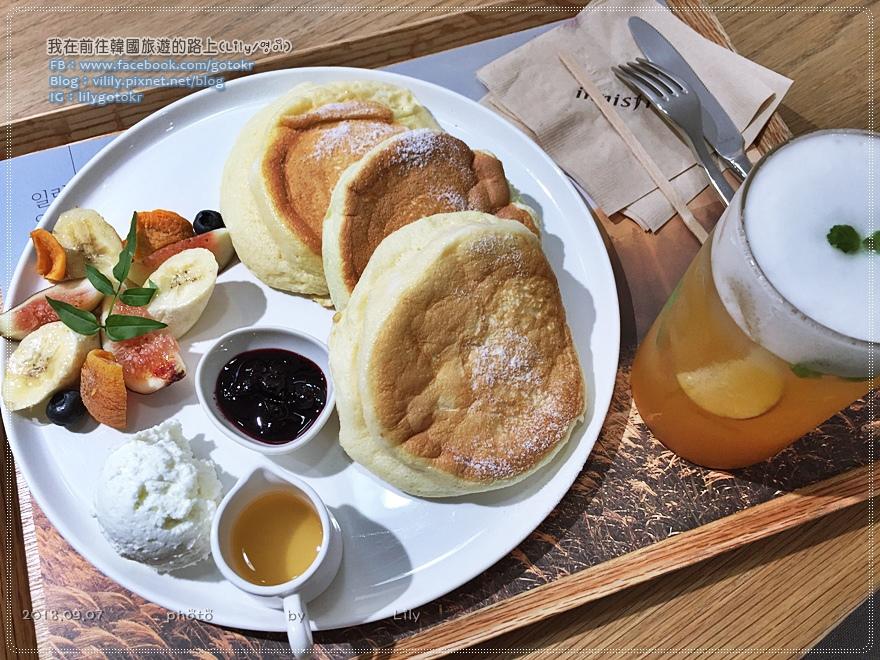 首爾|innisfree Green Cafe 舒芙蕾鬆餅,享受濟州島大自然的原汁原味