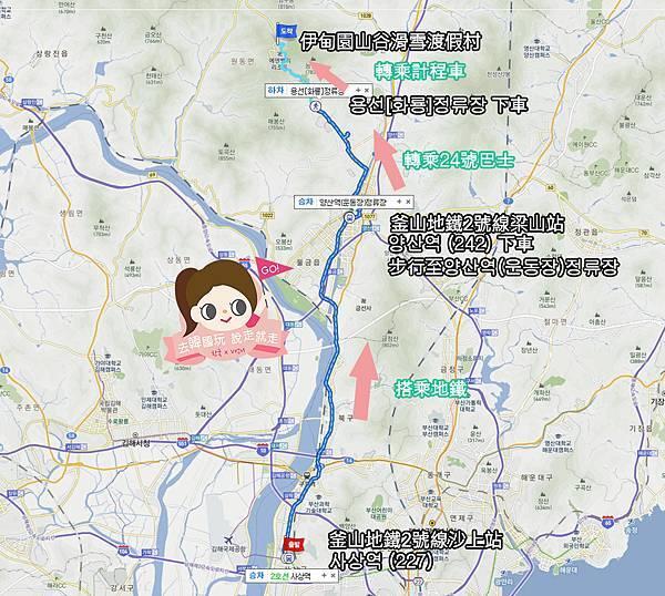 釜山沙上站上車路線圖.jpg