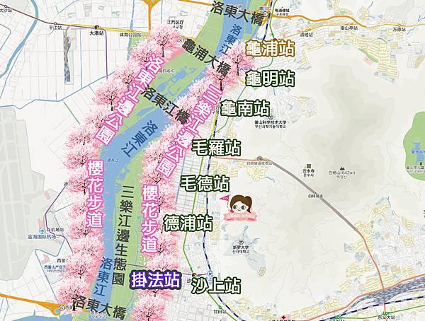 三樂江邊公園삼락강변공원櫻花步道MAP.jpg