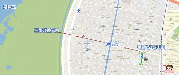 三樂江邊公園삼락강변공원櫻花步道地圖.jpg